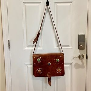 Handbags - Brown Genuine Leather Messenger Bag